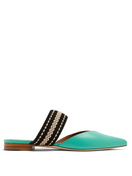 MALONE SOULIERS backless flats leather mint shoes