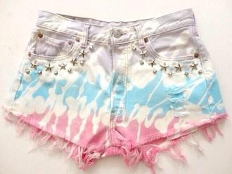 shorts bleached short ombre bleach dye