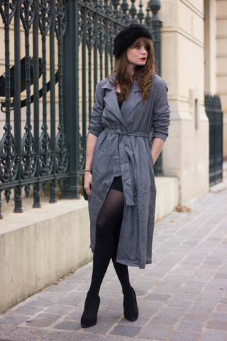mahayanna blogger coat top grey trench coat