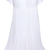 White Short Sleeve Lace Pleated Chiffon Dress - Sheinside.com