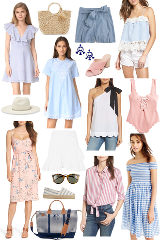 sequins and stripes blogger dress bag shorts tank top jewels hat top skirt sunglasses shoes shirt summer outfits spring outfits midi dress mules basket bag espadrilles scalloped