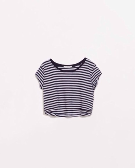 top clothes stripes stripedshirt crop tops croppedtshirt
