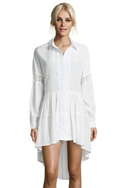 Boutique Ivy Baggy Drop Hem Shirt Dress at boohoo.com
