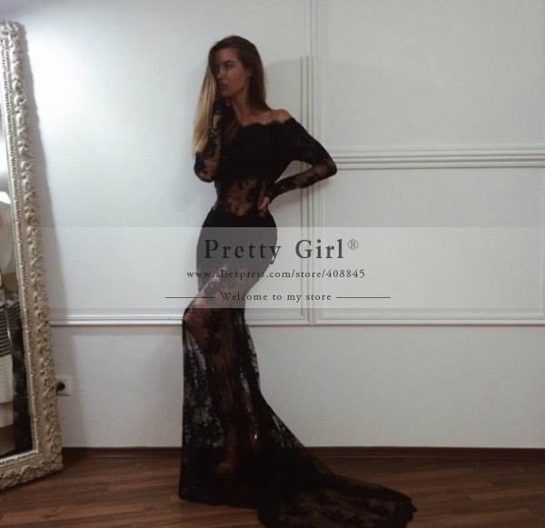 Aliexpress.com : buy vestido de festa free shipping fashionable black mermaid long evening dresses 2015 sexy see through formal prom dress party gown from reliable dresses spring suppliers on pretty girl trade co., ltd