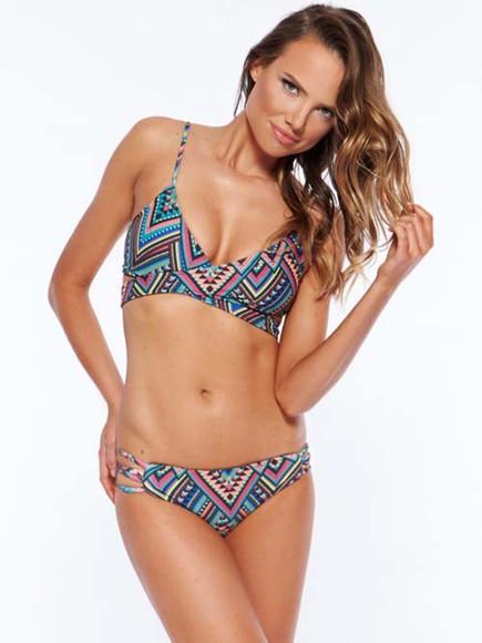swimwear triangle bikini lspace2015 swimwear2015 clothes print suit fashion beach