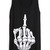 Black Sleeveless Skeleton Finger Print Vest - Sheinside.com