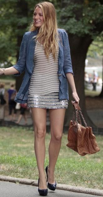 jacket blake lively blazer gossip girl serena van der woodsen blair waldorf outfit fashion style