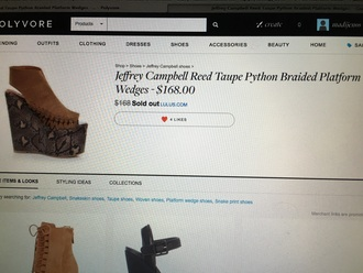 shoes jeffrey campbell wedges python braid