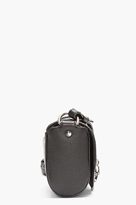 Givenchy Black Leather Obsedia Shoulder Bag for women | SSENSE