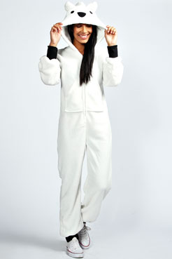 Laura Polar Bear Animal Onesie at boohoo.com