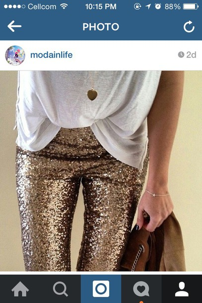 pants gold pants gold sequins