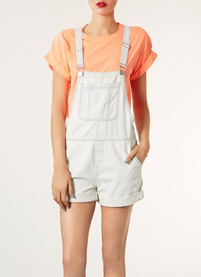 Topshop Moto Denim Overall Shorts «  SHEfinds