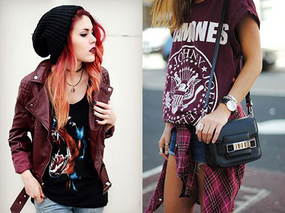 flannel shirt jacket shorts beanie Ramones