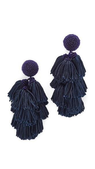 earrings navy jewels