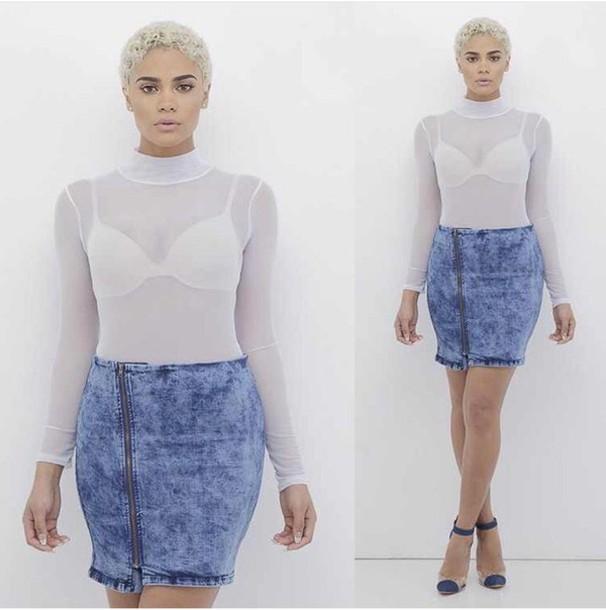 skirt mini skirt denim skirt acid wash skirt acid wash retro skirt 90s style top