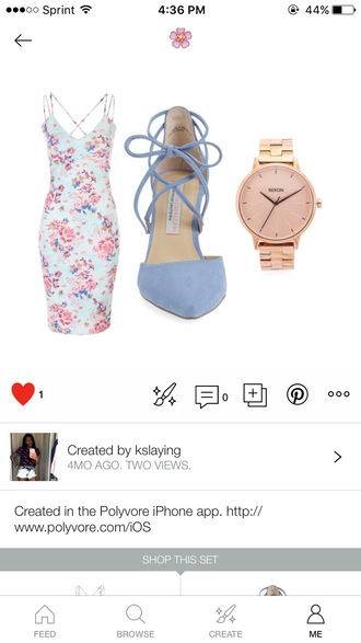 dress blue dress pink dress blue pink flowers pink flowers long dress strappy