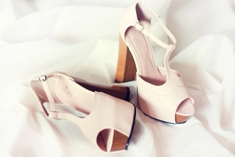 shoes beige shoes high heels white rose shoes rose gold style platform cutout peeptoes