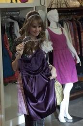 dress,purple dress,beautiful,debby ryan,wow