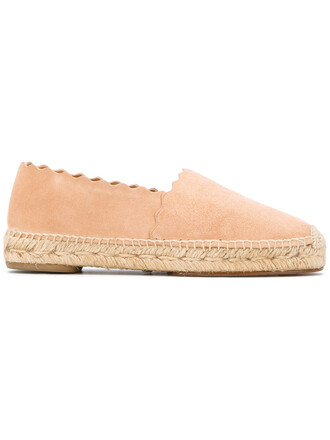women espadrilles leather suede purple pink shoes