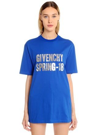 t-shirt shirt oversized spring print blue top