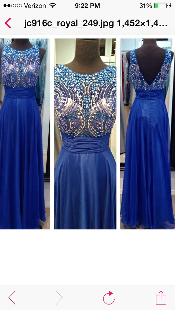 dress royal blue dress california prom dress