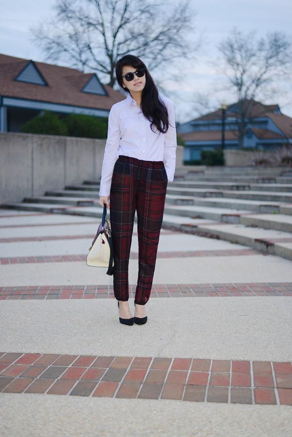 behind the seams pants shoes blouse sunglasses bag