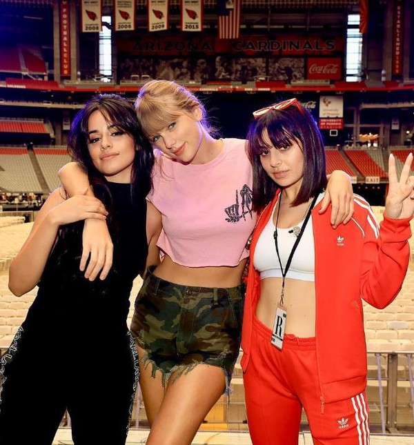 top crop tops cropped shorts camouflage taylor swift camila cabello charli xcx instagram celebrity