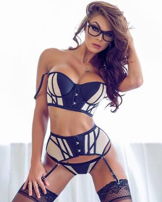 underwear garter thong lingerie bra bustier