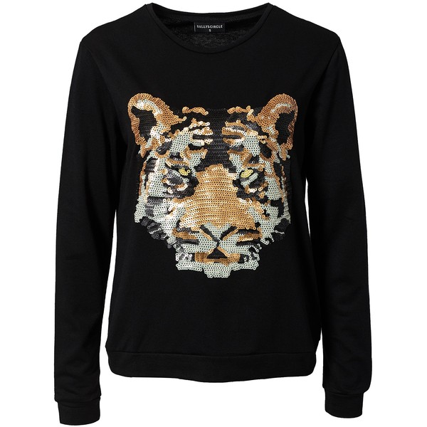 Sally&Circle Marina Tiger Sweat - Polyvore