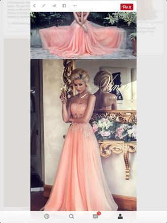 dress peach corset illusion