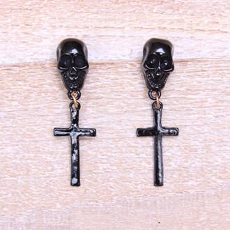 skull earrings jewels