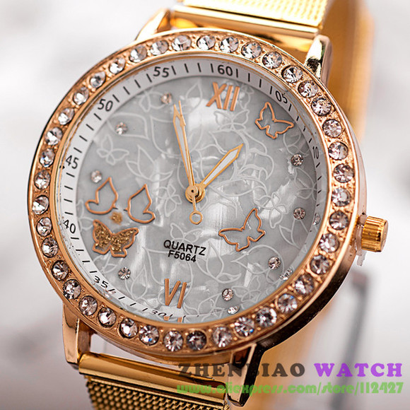 jewels watch gold geneva silver crystals