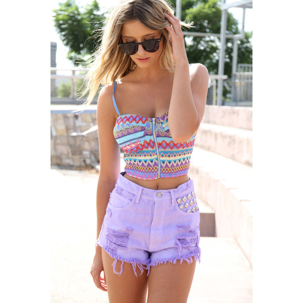 SABO SKIRT Rainbow Bandeau Top - $38.00 - Polyvore