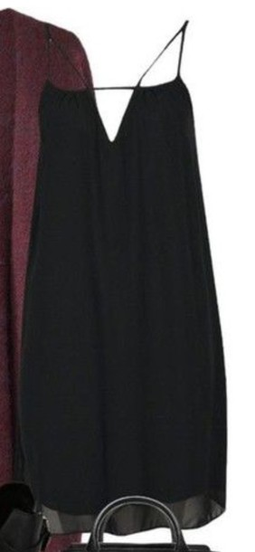 dress v cut backless dress
