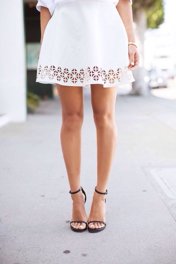 dress white cutouts. shoes sandals heels high heels minimalist