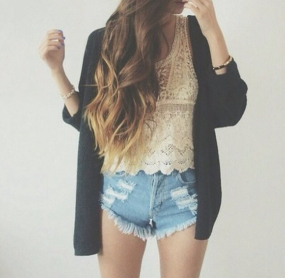 shorts blouse denim, blue, shorts, short, ripped,
