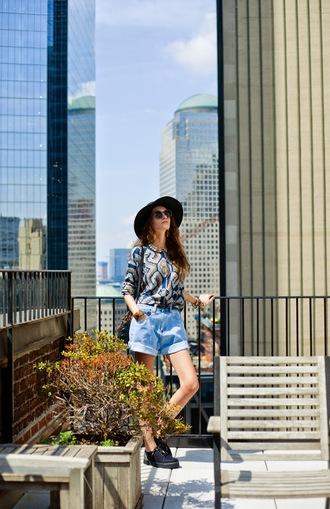 oh my blog blogger shorts shoes hat top print