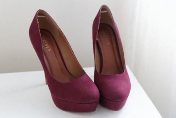 shoes fashion high heels burgundy