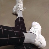 shoes,pale,soft grunge,grunge,indie,socks,cool,nike air force,jeans,huarache,nike sneakers,pants,checkered,nike shoes,nike,white,black and white,black,grey,plaid