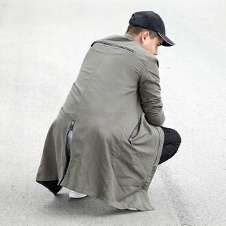 jacket maniere de voir longline bomber bomber jacket khaki 36683