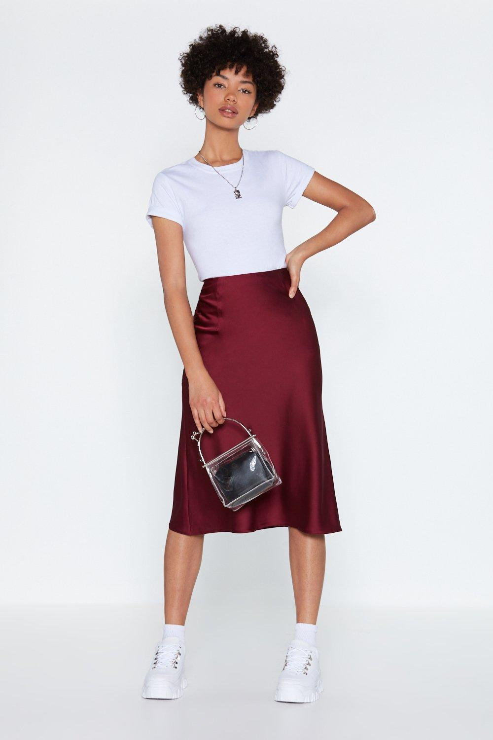 Just My Type Satin Midi Skirt | Shop Clothes at Nasty Gal!