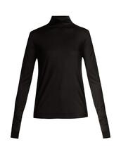 sweater,silk,black
