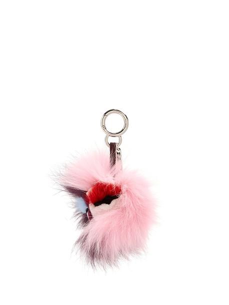 mini fur ring pink jewels