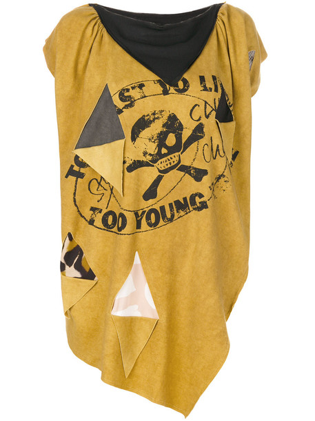 Vivienne Westwood Anglomania t-shirt shirt t-shirt oversized women cotton yellow orange top