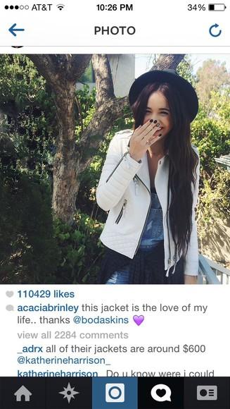 acacia brinley jacket white