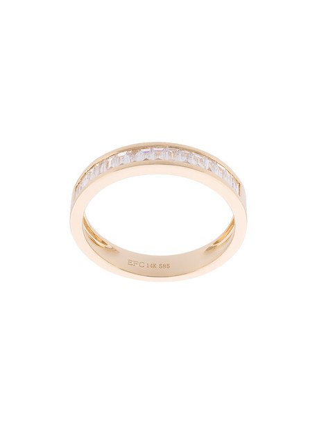 EF COLLECTION women ring gold grey metallic jewels