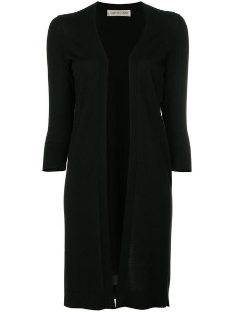 Lamberto Losani cardigan cardigan long open women black silk wool sweater