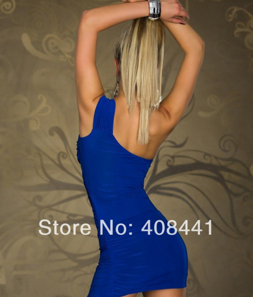 2014 New hot summer Wholesale Fashion Fashion sexy halter nightclub ladies shoulder dress Clubwear | Amazing Shoes UK