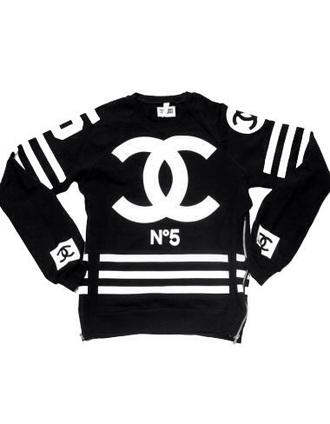 sweater chanel chanel sweater fashion teenagers