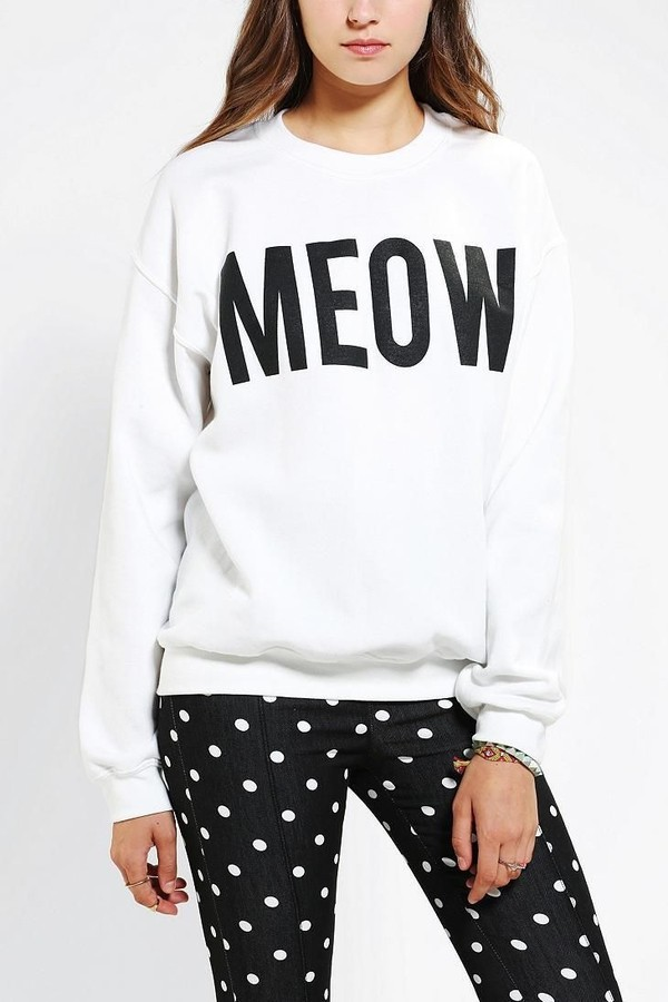 shirt sweater meow